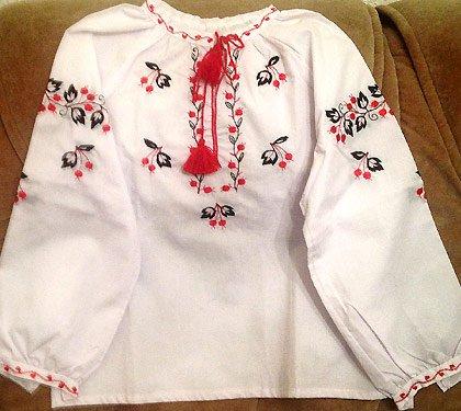 Вышиванка для девочки, фото